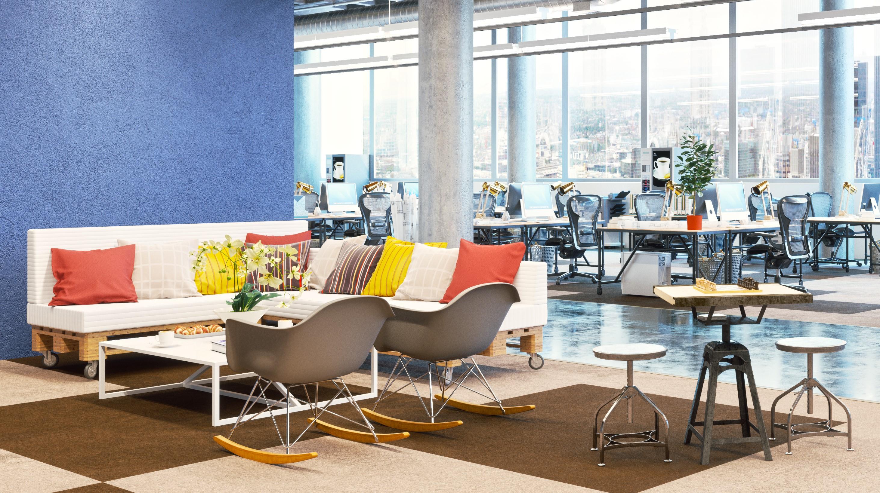 El color puede agregar dinámica a su oficina – ¡echa un vistazo aquí!